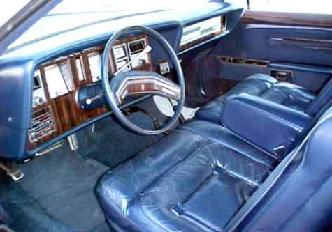 Image: 1979 Continental Mark V Collector's Series leather interior